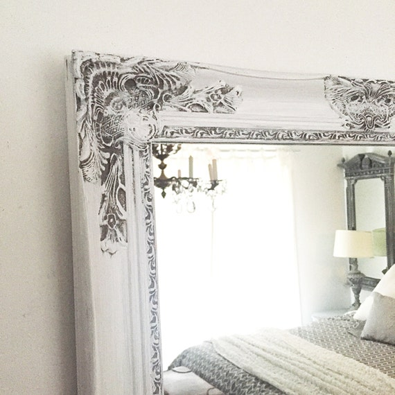 shabby chic mirror large mirror bathroom mirror by 20338