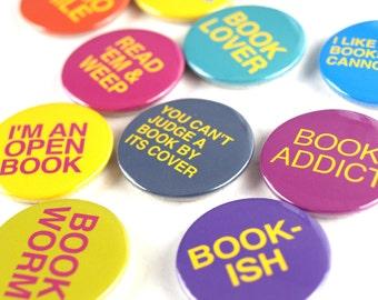 Literary Fridge Magnets set of 10