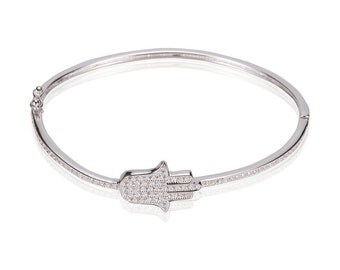 Hand Bangle 925 / Sterling Silver