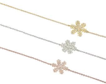 Snowflake Bracelet Cz 925 / Sterling Silver