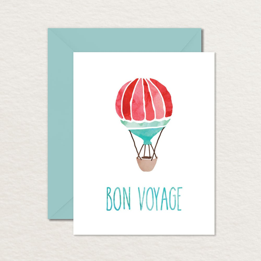 Printable Goodbye Farewell Card / Printable Bon Voyage Card /