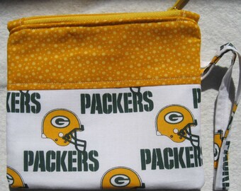Green Bay Packers Wristlet NFL Football Embroidered Monogrammed
