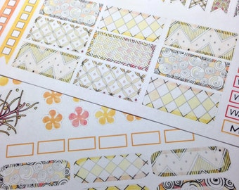 Zen Dreamsicle Weekly Planner Stickers for Erin Condren and other horizontal planners