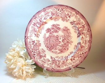 Vintage Tonquin Royal Staffordshire Dinnerware by Clarice Cliff Made in England Shabby Cottage Chic Decorative Accent