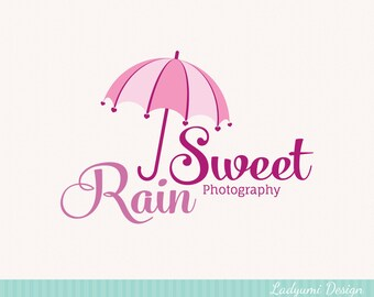 Umbrella Logo Design OOAK Premade Boutique Logo Photography Logo