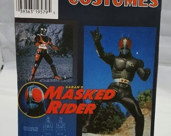 Saban's Masked Rider Costume Pattern ~ Simplicity 7389 ~ Vintage Halloween Costume Pattern ~ Size A ~ Child's Size 3-8 ~ Uncut FF