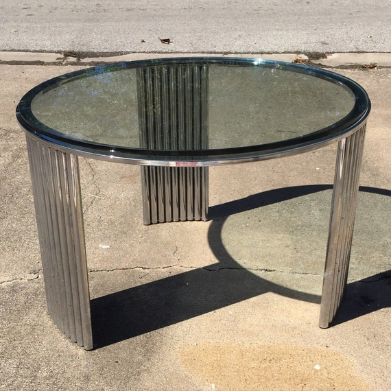 Deco Chrome Coffee Table: Art Deco Chrome Coffee Table