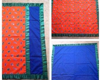 Florida gator baby blanket (34W by 40L)