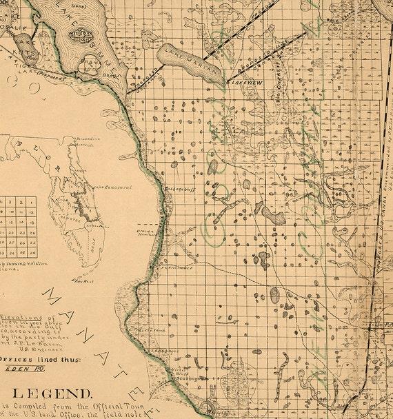 Restoration Hardware Florida: Map Of Brevard County Florida 1893. Restoration Hardware