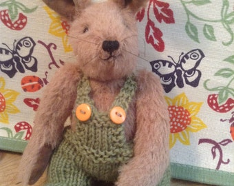 Digory, a hand made limited edition mohair hare
