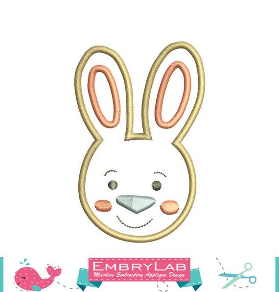Machine embroidery applique design mini cute easter funny