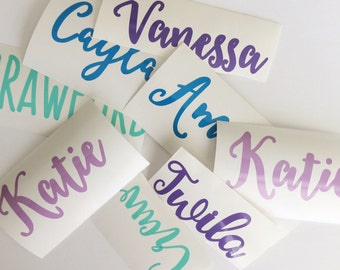 Water Bottle Name Labels; Yeti, Nalgene, mug labels; kid's names; children's names; vinyl name label