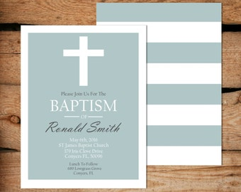 Boy Baptism Invitation / Baptism Invitation Boy / Printable Baptism Invitation / Baptism Invitation For Boy / Christening Invite