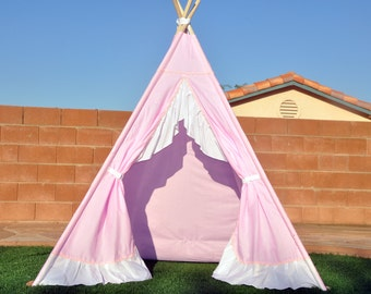 Ready to ship Tulip Muslin Kids Teepee, Kids Play Tent, Childrens Play House, Tipi,Kids Room Decor