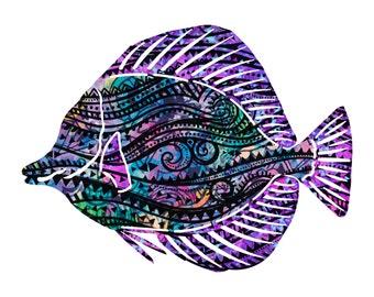 Metal Wall Art Angel Fish Whimsy Home Decor