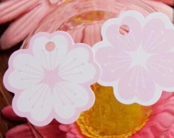 Cherry Blossom Tag/Sakura Tag/Flower Tag/White Flower Tag/Pink Flower Tag