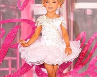 Custom glitz pageant dress National Level Beauty Stoned Cupcake Stoned Mega Stone