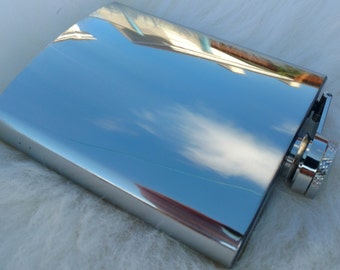Hip Flask - 7oz - blank - stainless steel - ready for shipping - add it to 7 oz hip flask cover!