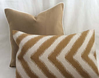 Designer Pillow Set - Bronze/Cream