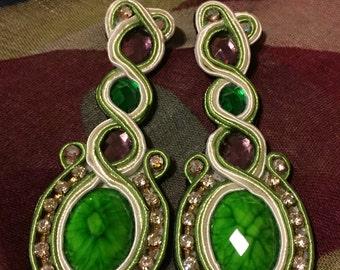 Entangled Emerald Earrings