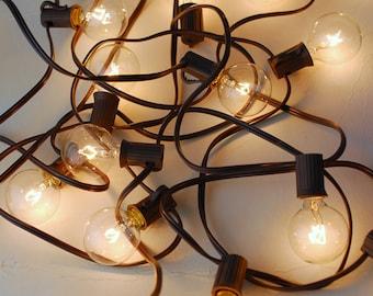 Globe String Lights G40 19ft - 20ct Brown Cord