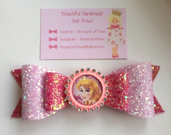 Disney Princess Aurora hair bow