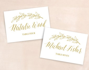 Botanical Placecard / Botanical Tablenumber / Gold Wedding Place Card / Customized Wedding / Wedding Sign Botanical / Welcome Sign floral