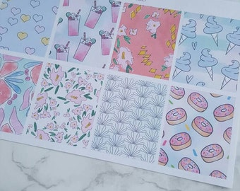 8 Sassy Mix Full Box Stickers/ Vertical and Horizontal