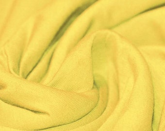 Yellow - Cotton Lycra Jersey Knit Fabric