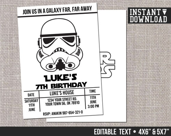 It's just an image of Insane Printable Star Wars Invitation