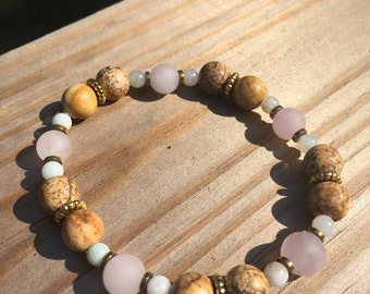Rose Quartz and Desert Sand