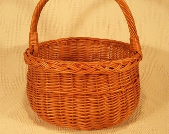 Wicker shopping basket 011