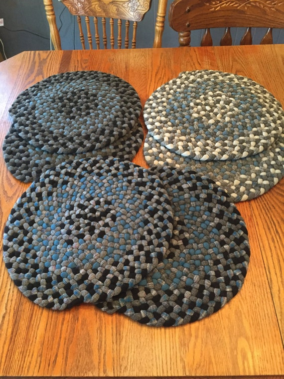 Items Similar To Braided Wool Chair Pads On Etsy
