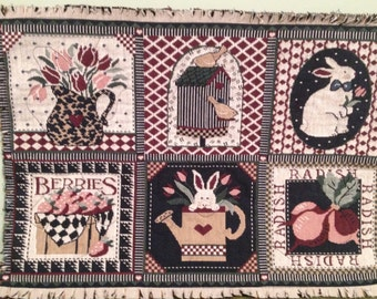 Country Spring Table Mat 15 x 10 Tapestry