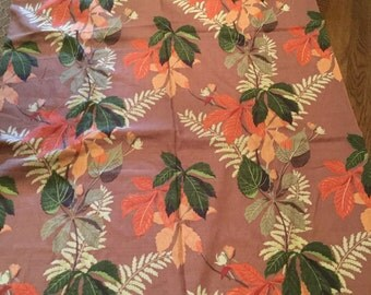 Vintage 1950's Bark Cloth New Old Stock