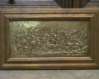 Battle. Grunwald. Painting of copper.