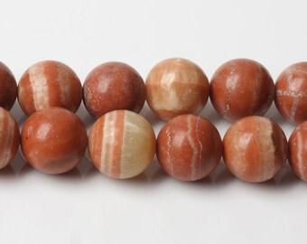 B464 Natural Red Malachite Beads Supplies, Full Strand 4 6 8 10mm Round Red Malachite Gemstone Beads for DIY Jewelry Making