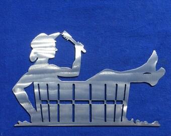 Cowboy Bath Metal Wall Decoration w West 1 Skilwerx house home garden cowboy
