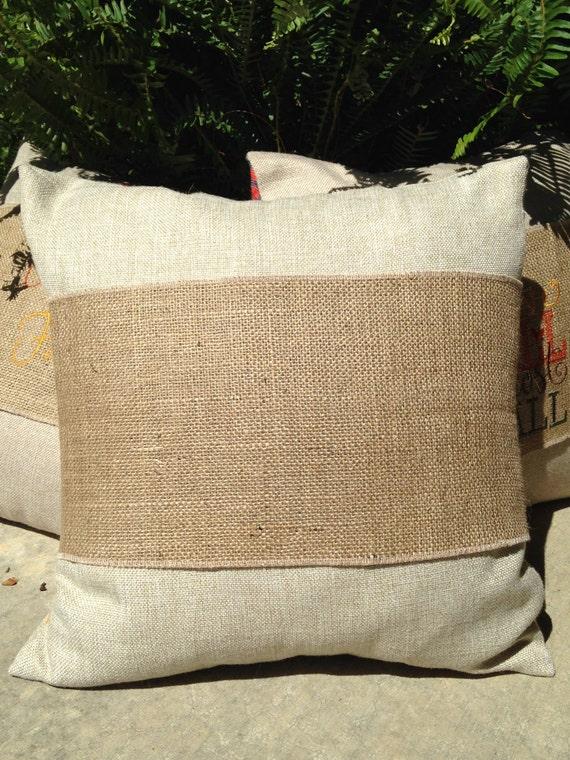 Blank Burlap Pillow Wraps Adjustable Pillow Wraps Burlap