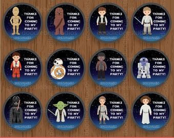 Star Wars Favor Tags, Printable Star Wars Tags, Personalized Starwars Favor Tags, Starwars Label, Digital Starwars Gift Tags, Starwars Party