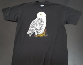 Vintage Hanes 50/50 Snow Owl soft graphic tshirt size Large