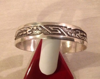 ROBERT BECENTI Navajo Native American Sterling Silver Bracelet...BEAUTIFUL!