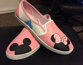 Mickey and Minnie Disney Painted Shoes