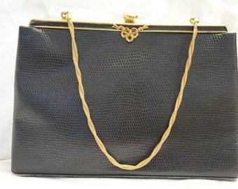 Harry Rosenfeld Lizard Skin Purse/Harry Rosenfeld Designer Purse/Vintage Rosenfeld Purse/Exotic Leather Purse/Designer Bag/Rosenfeld Purse