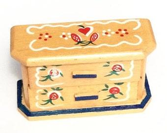 Miniature Hand painted Swiss Dresser