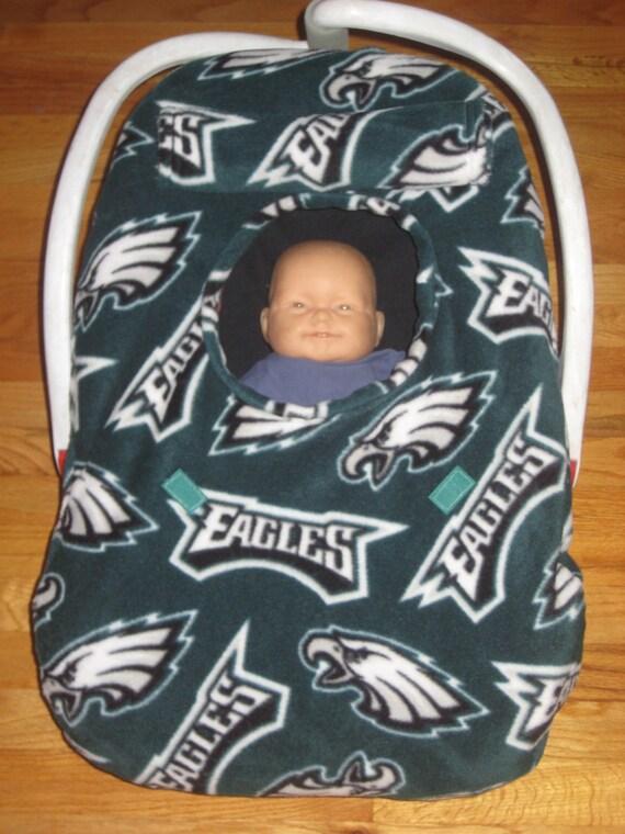 philadelphia eagles last one fleece infant car seat carrier. Black Bedroom Furniture Sets. Home Design Ideas