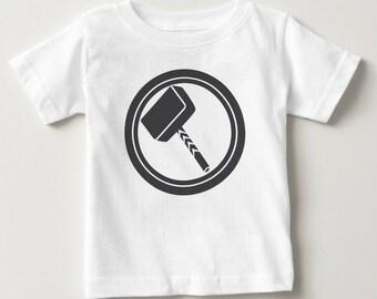 Thor Hammer Avengers Inspired Baby Tshirt