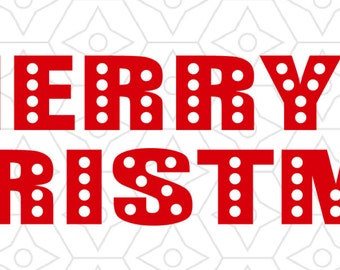 Merry Christmas Decal, SVG, DXF and AI Vector Files for use with Cricut or Silhouette Vinyl Cutting Machines