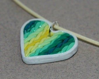 Knitted Heart Necklace
