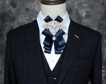 Men's Bling Rhinestone Bow Tie For Wedding or Special occasion